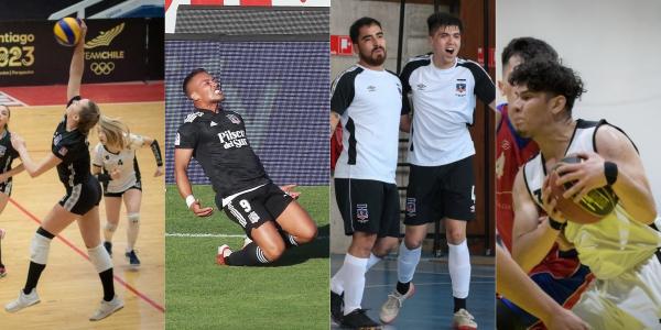 Club Social y Deportivo Colo Colo triunfa en todas las ramas. Fotos Voleibol, Futsal y Básquetbol: CSD Colo Colo
