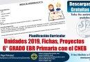 Programación, Unidades, Sesiones, 6to Grado PRIMARIA 2019, contenido adicional de fichas y materiales de trabajo, [Word]