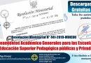 RM N° 441-2019-MINEDU, Lineamientos Académico Generales para las Escuelas de Educación Superior Pedagógica públicas y Privadas