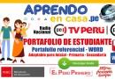 APRENDO EN CASA: PORTAFOLIO DE ESTUDIANTE [WORD][Inicial – Primaria – Secundaria]