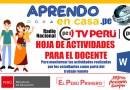 APRENDO EN CASA: Hoja de Actividades para monitorear a los estudiantes [WORD]