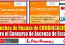 Excelentes Pruebas de Repaso de COMUNICACIÓN para el Concurso de Ascenso de Escala en la Carrera Pública Magisterial [Descarga aquí][PDF]