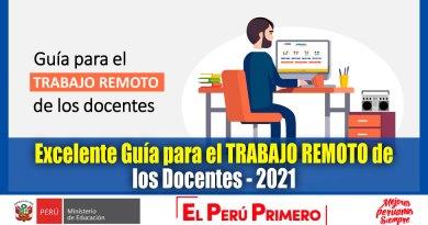 ATENCIÓN: Excelente Guía para el TRABAJO REMOTO de los Docentes – 2021 [Descarga aquí][PDF]