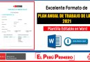 IMPORTANTE: Excelente Formato Editable de PLAN ANUAL DE TRABAJO DE LA I.E. 2021 [Descarga aquí][Word]