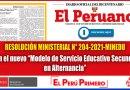 """RESOLUCIÓN MINISTERIAL N°204-2021-MINEDU: Crean el nuevo """"Modelo de Servicio Educativo Secundaria en Alternancia"""" [Conócelo aquí]"""