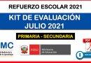 KIT DE EVALUACIÓN DIAGNÓSTICA JULIO 2021 para PRIMARIA Y SECUNDARIA [Orientaciones para la Distribución y Aplicación del Kit de Evaluación]