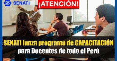 ATENCIÓN: SENATI lanza programa de CAPACITACIÓN para Docentes de todo el Perú [Conócelo aquí]