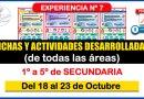 Excelentes FICHAS Y ACTIVIDADES DESARROLLADAS -Experiencia Nº7 de todas las Áreas para Nivel SECUNDARIA [Del 18 al 23 de Octubre]