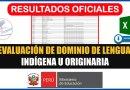 IMPORTANTE: Resultados Oficiales de la Evaluación de Dominio de Lengua Indígena u Originaria [Conócelo aquí][Excel]
