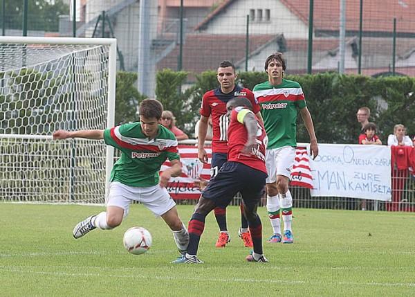 Galarreta en un partido ante el Lille. Foto: Paulino Oribe (AS)