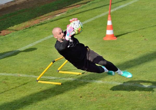 Dani Mallo entrenando con el Albacete. Foto: Nano Luján