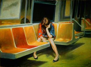 Imagen de Nigel Van Wieck, un pintor que nos remite de inmediato a las historias que sugería Edward Hopper.