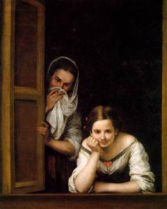 """""""Dos mujeres en la ventana"""", de Murillo."""
