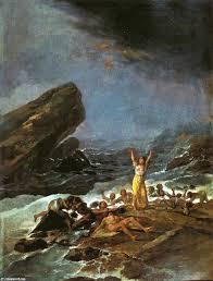 """""""El naufragio"""", de Goya."""