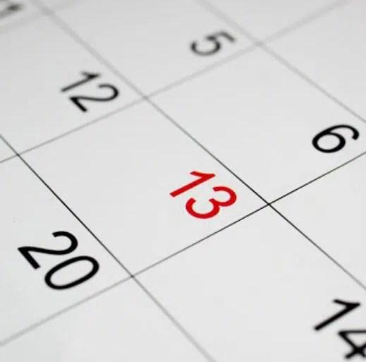 foto de dias del calendario