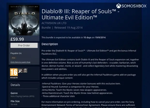 Diablo III Ultimate Edition