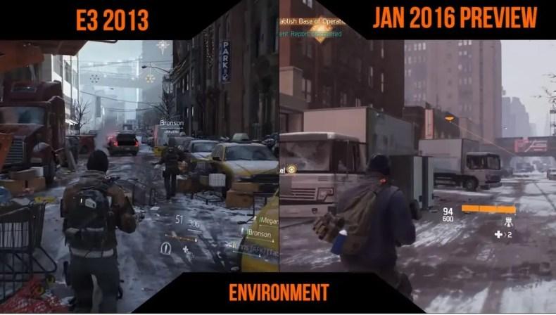 The Division comparativa demo E3