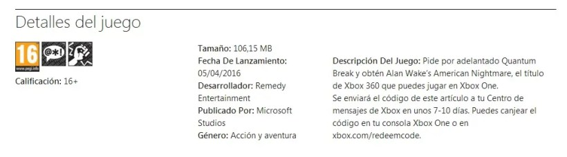 reserva Quantum Break Alan Wake