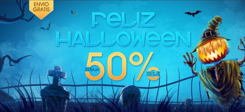 ¡Últimos días para disfrutar de las ofertas de Hallowen! ¡Envíos directamente desde España!