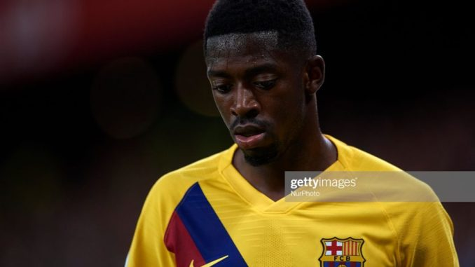 Ousmane Dembele sidelined for 5 weeks on hamstring injury.1