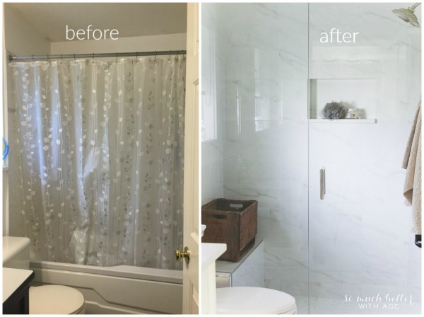 Faux Carrera Marble Master Ensuite So Much Better With Age