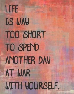 life-is-to-short-to-spend-another-day-at-war-with-yourself