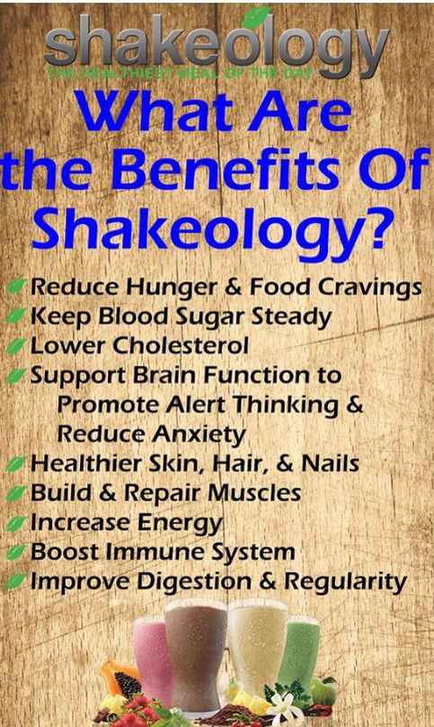 the benefits of shakeology