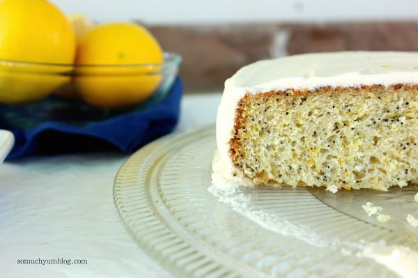 Vegan Lemon Poppy Seed Cake | So Much Yum