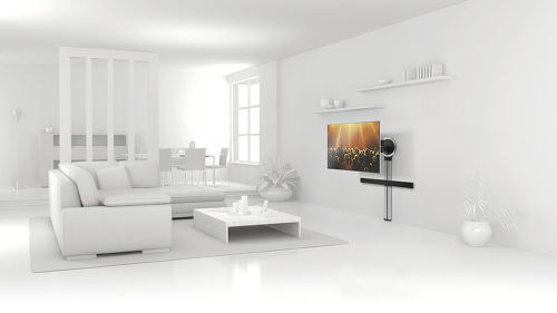 Vogel's DesignMount : support TV + colonne + support barre de son