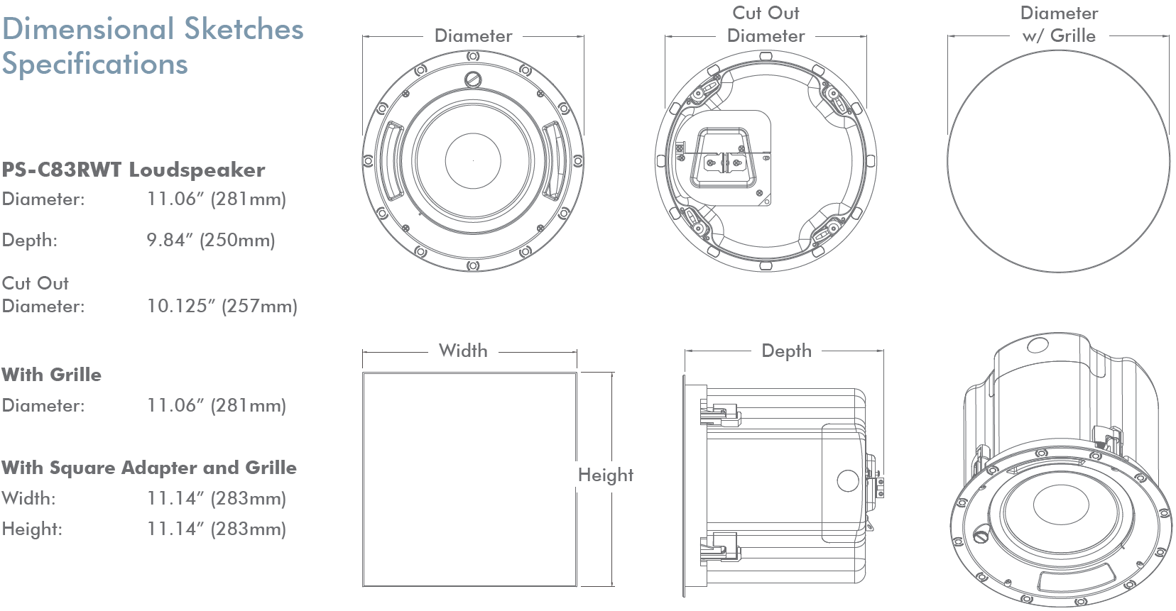 Professional Series 8 In Ceiling Woofer