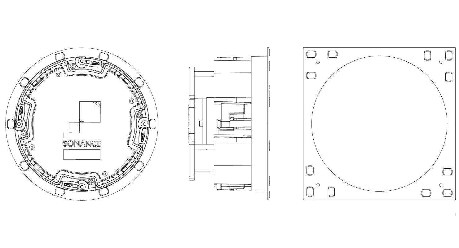 Sonance Vp66r Visual Performance In Celing Speaker Round 2 Speakers 1 Pair
