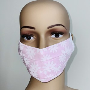 Pink Flower Cotton Mask