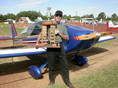 Jarvis with his first Narromine trophy, 2004