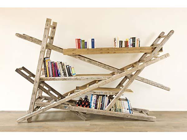 Crazy Ladder Hack Bookshelves