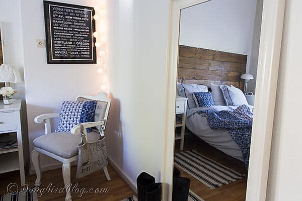 Bedroom Decorating With An IKEA Hemnes Mirror
