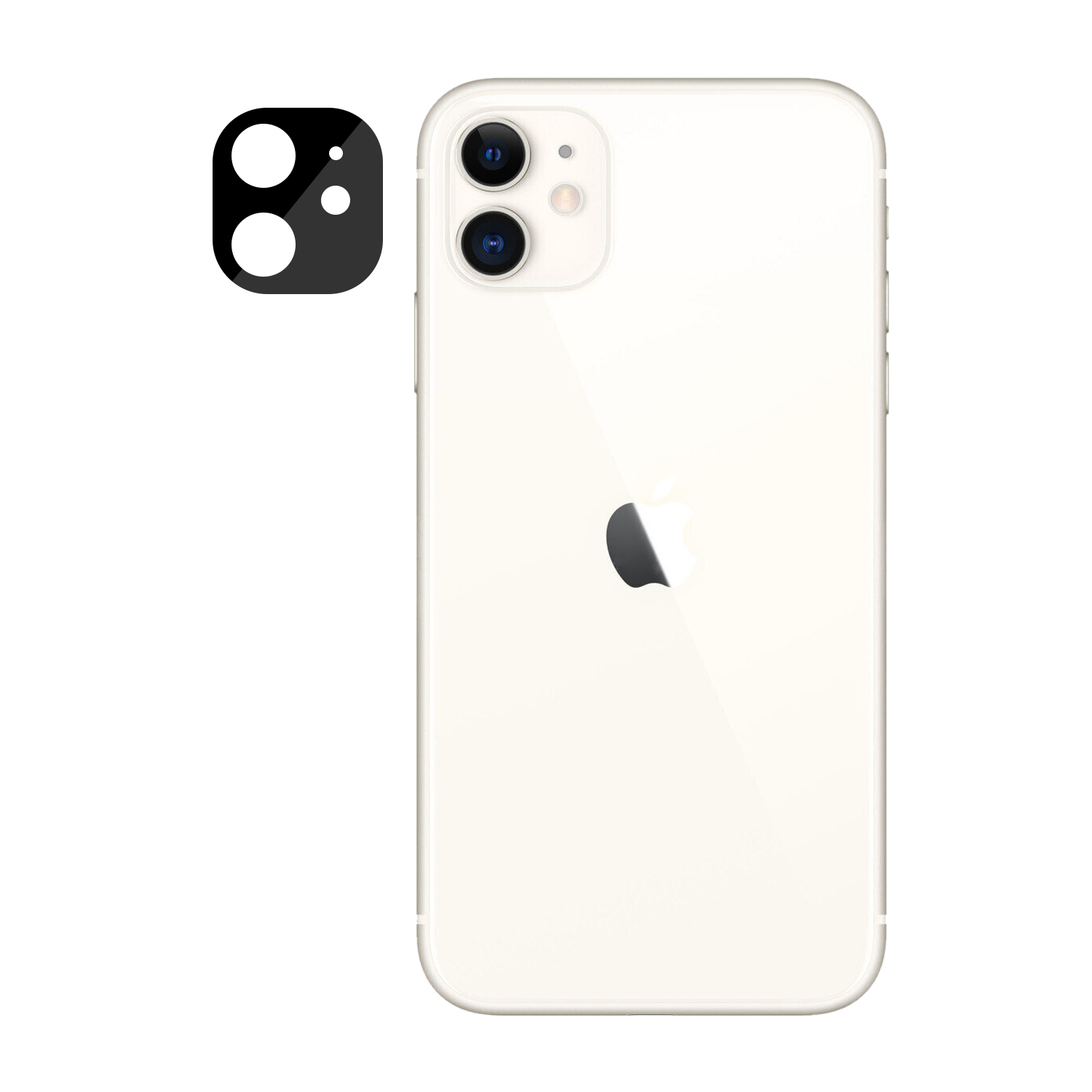 Iphone 11 New Fully Protective Lens Tempered Glass Black