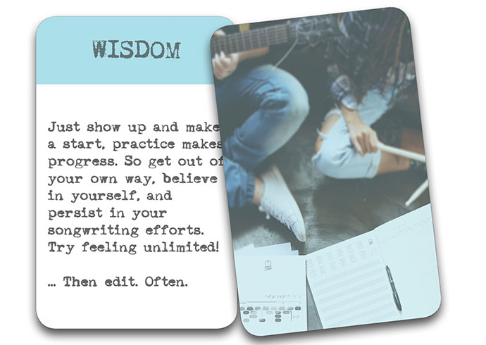 'The Song In My Head' Songwriter Cards: Wisdom