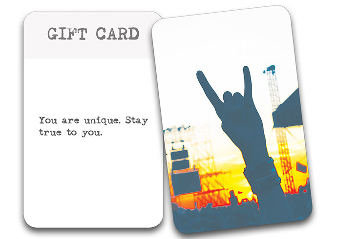 'The Song In My Head' Songwriter Cards: Gift Card