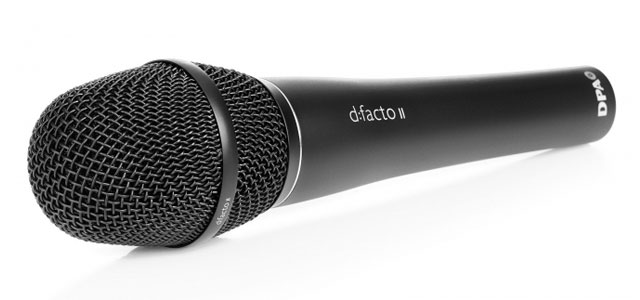 The DPA d:facto II vocal microphone in all its glory