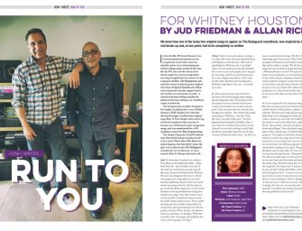 How I wrote Whitney Houston's 'Run To You' by Jud Friedman & Allan Rich