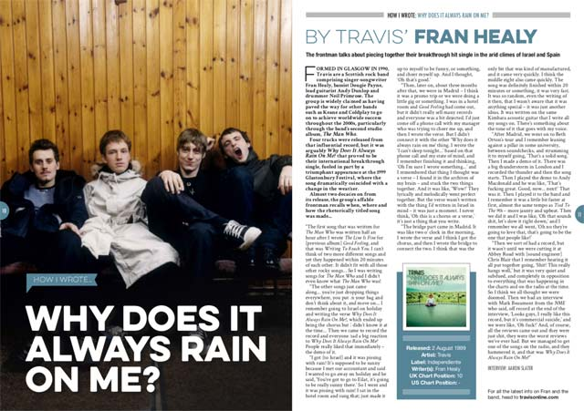 How I wrote 'Why Does It Always Rain On Me' by Travis