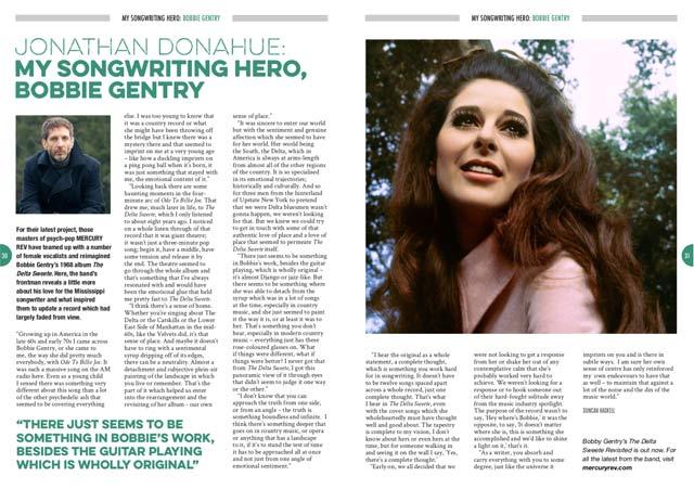 Jonathan Donahue: My Songwriting Hero, Bobbie Gentry