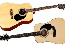 Mitchell D120 and D120S12E acoustic guitars