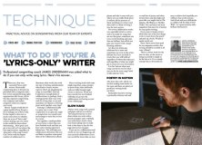 James Linderman Technique in Songwriting Magazine Summer 2019
