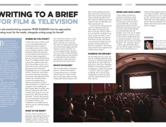 Peter Raeburn on writing to a brief for film and television