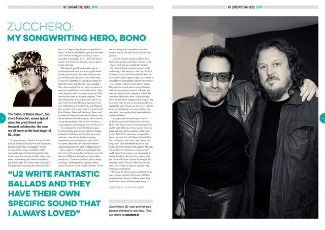 Zucchero: My Songwriting Hero, Bono