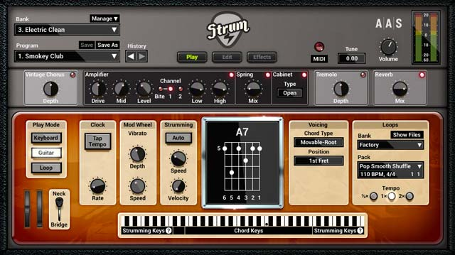 AAS Strum GS-2 screenshot electric play
