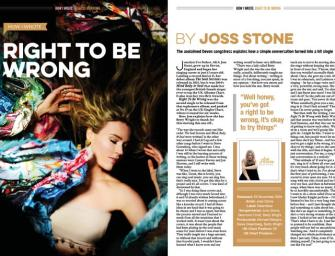 How I wrote 'Right To Be Wrong' by Joss Stone