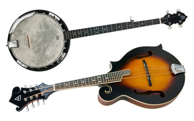 Hohner A+ student bluegrass instruments — banjo and mandolin