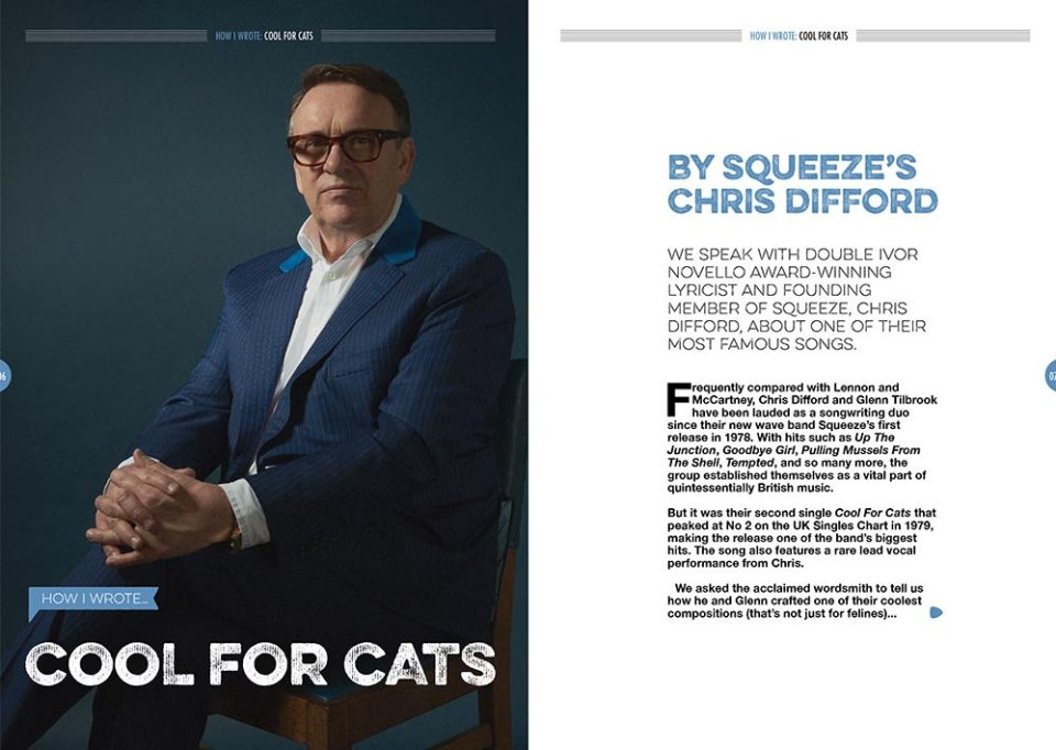 How I wrote 'Cool For Cats' in Songwriting Magazine Autumn 2019
